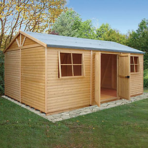 Shire 12 x 18 ft Mammoth Double Door Workshop