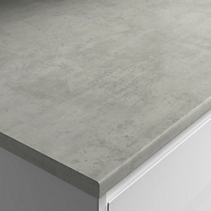 Wickes Laminate Upstand Cloud Cement 70mm X 12mm X 3000mm