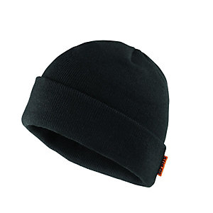 Scruffs Knitted Thinsulate Work Beanie Hat Black - One Size