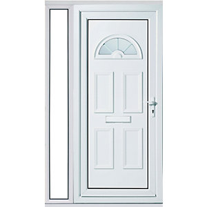 Wickes Carolina 1 Sidelight Upvc Door Set 2085 x 1220mm Left Hand Hung
