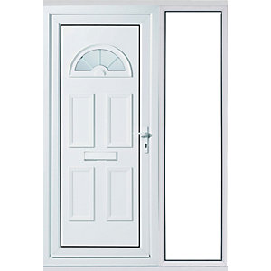Wickes Carolina 1 Sidelight Upvc Door Set 2085 x 1520mm Right Hand Hung