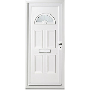 Wickes Carolina Pre-hung Upvc Front Door Set 2085 x 920mm Left Hand Hung