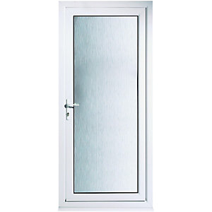 Wickes Humber Pre-hung Fully Glazed Upvc Back Door 2085 x 840mm Right Hand Hung