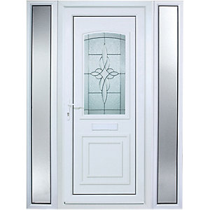 Wickes Medway 2 Sidelight Pre-hung Upvc Door 2085 x 1520mm Right Hand Hung