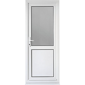 Wickes Tamar Pre-hung Upvc Back Door 2085 x 840mm Right Hung