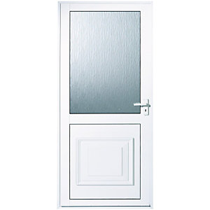 Wickes Tyne Aluminium Door Glazed 1981 x 762mm Left Hand Hung  sc 1 st  Wickes & uPVC Doors - Exterior Front u0026 Back Doors | Wickes