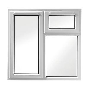 Wickes White uPVC Casement Window - Left Side Hung & Top Hung 1190 x 1160mm