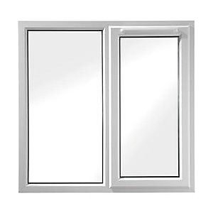 Wickes White uPVC Casement Window - Right Side Hung & Fixed Lite 1190 x 1010mm
