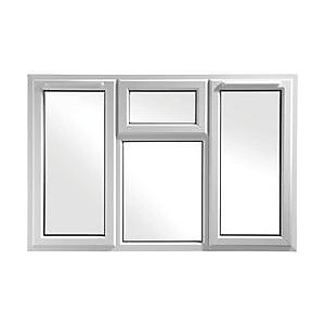 Wickes White uPVC Casement Window - Side & Top Hung 1770 x 1160mm
