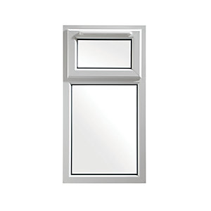 Wickes White uPVC Casement Window - Top Hung 610 x 1010mm