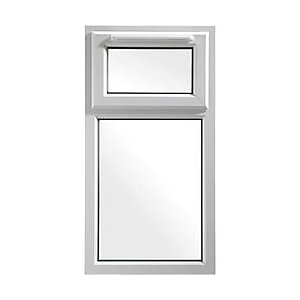 Wickes White uPVC Casement Window - Top Hung 610 x 1160mm