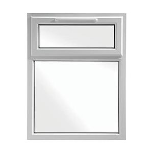 Wickes White uPVC Casement Window - Top Hung 905 x 1160mm