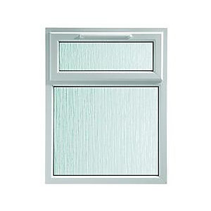 Wickes White uPVC Casement Window - Top Hung Obscure Glass 1190 x 1010mm