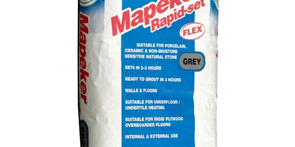 Mapei Mapeker Rapid Set Flexible Tile Adhesive Grey - 20kg